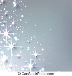 natal, estrelado, fundo, com, sparkles.