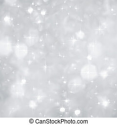 natal., faíscas, vetorial, prata, fundo