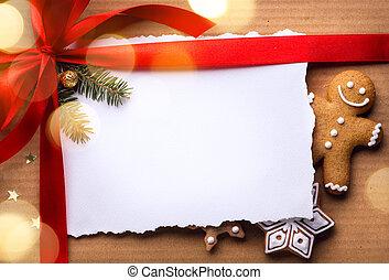 natal, feriados, surprise;, natal, cartão cumprimento, fundo