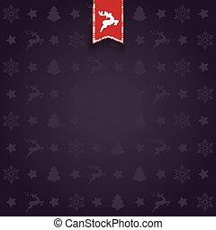 natal, fundo, cartão cumprimento