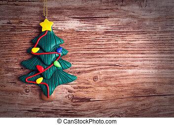 natal, fundo, com, árvore