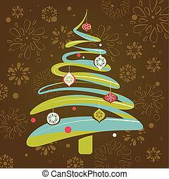 natal, fundo, com, árvore xmas