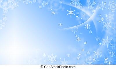 natal, fundo, com, snowflakes