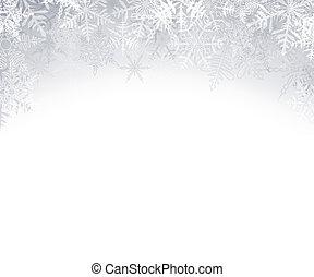natal, fundo, cristalino, snowflakes.
