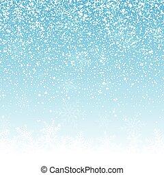 natal, fundo, neve