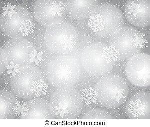 natal, fundo, prata