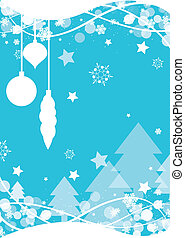 natal, fundo, snowflake