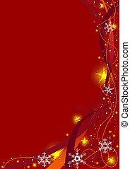 natal, fundo, vermelho