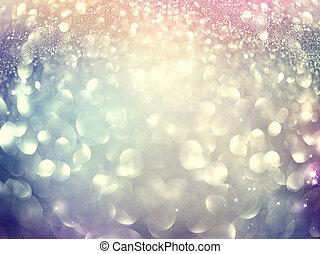 natal, glowing, feriado, abstratos, defocused, fundo