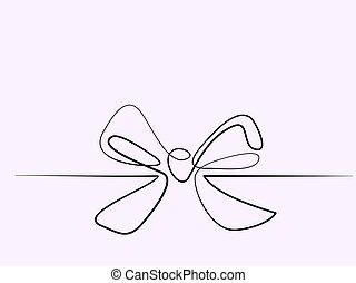 natal, holly, decoração, bow-knot