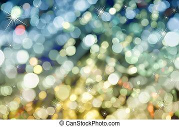 natal, macio, luz, fundo