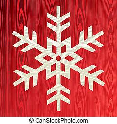 natal, madeira, snowflake, cartão cumprimento