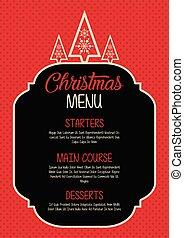 natal, menu, desenho