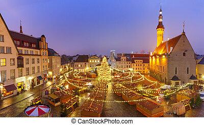 natal, mercado, em, tallinn, estónia