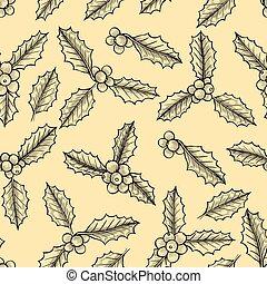 natal, mistletoe, padrão