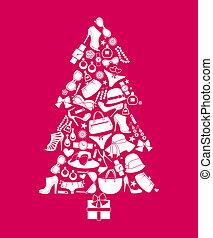 natal, moda, árvore