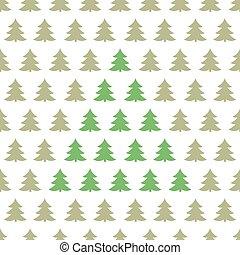 natal, padrão, árvores