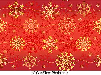 natal, padrão, vermelho, seamless