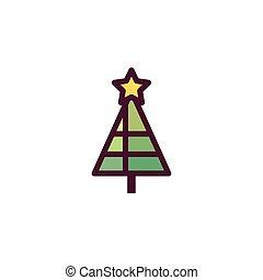 natal, pinho, feliz, árvore, vetorial, desenho