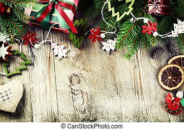 natal, quadro, com, vindima, decorações