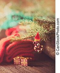 natal, rústico, decoração