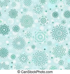 natal, seamless, padrão, com, snowflakes., eps, 8