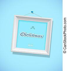 natal, sinal, com, quadro, frame.