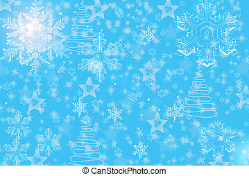 natal, snowflakes
