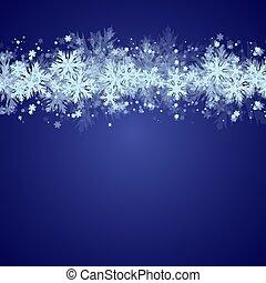 natal, snowflakes, fundo