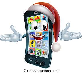 natal, telefone, mascote