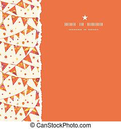 natal, textured, decorações, bandeiras, quadrado, rasgado, seamless, padrão, fundo