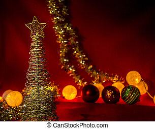 natal, thème, célébration, décembre