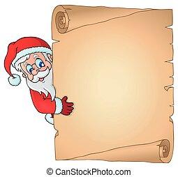 natal, topic, pergaminho, 2