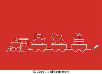 natal, trem