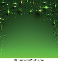 natal, verde, estrelado, experiência.