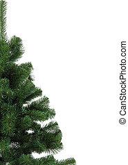 natal, verde, estrutura, isolado, branco, fundo