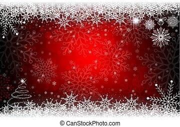 natal, vermelho, desenho, com, um, pequeno, árvore natal