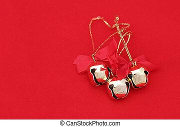 natal, vermelho, sinos