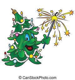 natale felice, albero