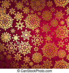 natale, fondo, con, snowflakes., eps, 8