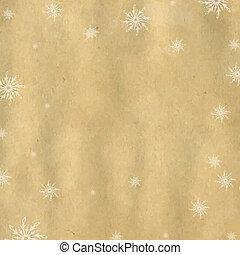 natale, fondo, con, snowflaks
