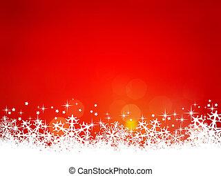 natale, fondo, rosso