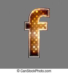 natale, font, con, luce ardente, struttura, -, f