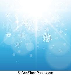 natale, inverno, fondo