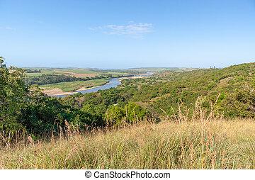natale, kwazulu, africa, fiume, tugela, sud