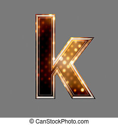natale, lettera, con, luce ardente, struttura, -, k