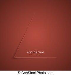 natale, moderno, albero, natale, fondo., year., vettore, invito, nuovo, o, felice