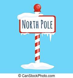 natale, nord, inverno, neve, segno, polo, ghiaccio, simbolo, vacanza, bandiera, natale, cartone animato, icona