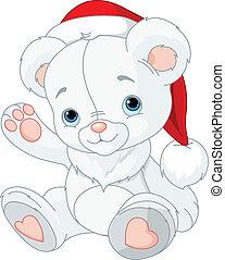 natale, orso, teddy