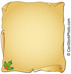 natale, pergamena